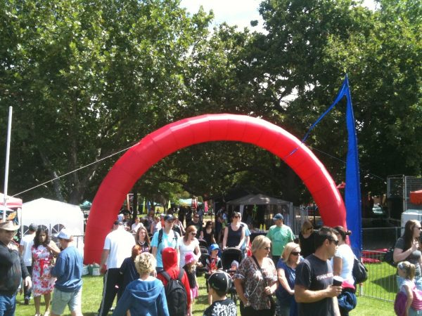 Inflatable Red Arch