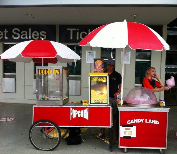 Popcorn Machine and Cart